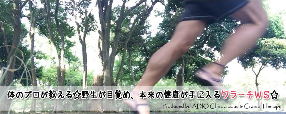 体のプロが教える☆野生が目覚め、本来の健康が手に入るワラーチ WS☆